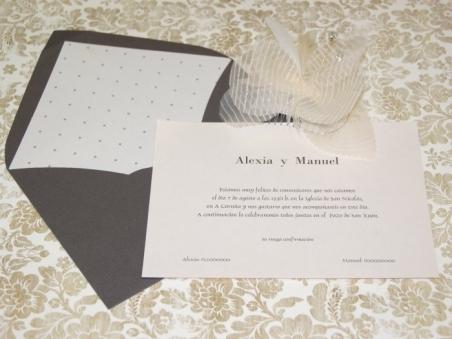 Invitación de boda - CLÁSICA 4106 Simple