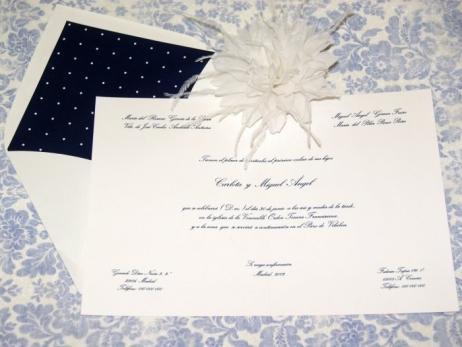 Invitación de boda - CLÁSICA 4131 TOPITOS
