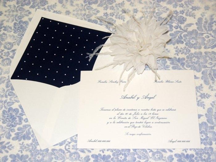 Invitación de boda - CLÁSICA 4131 SIMPLE TOPITOS