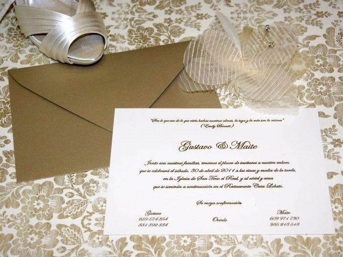 Invitación de boda - CLÁSICA 4139