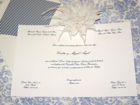 Invitación de boda - CLÁSICA 4301