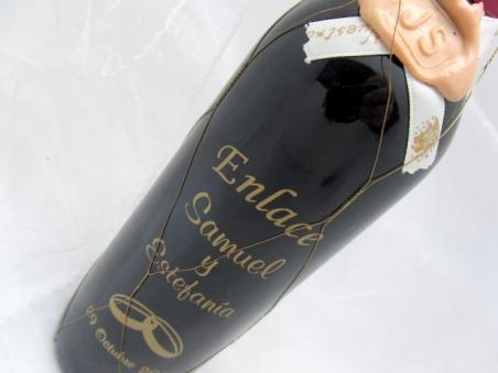 Detalle de boda - BOTELLA VINO JUMILLA 37.5cl PERSONALIZADA ref. vino