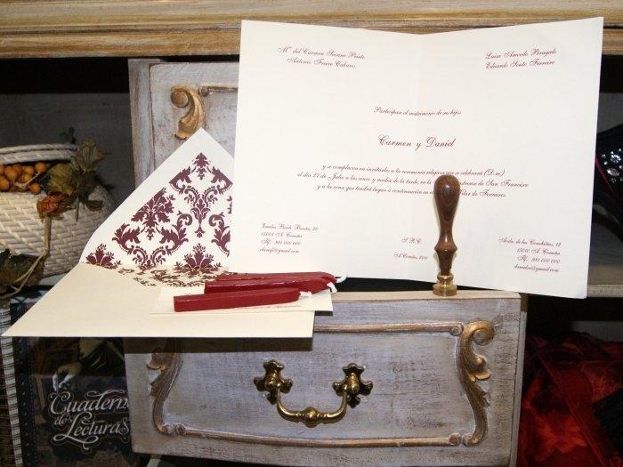 Invitación de boda - CLÁSICA 4312