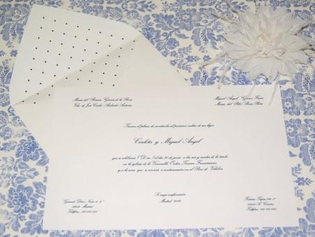 Invitación de boda - CLÁSICA 4316 Doble TOPITOS