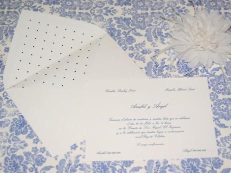 Invitación de boda - CLÁSICA 4316 Simple TOPITOS