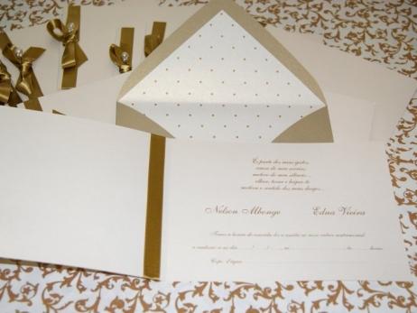 Invitación de boda - CLÁSICA 4127 DORADO