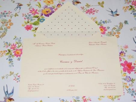 Invitación de boda - CLÁSICA 4111 Doble TOPITOS