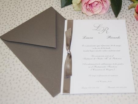 Invitación de boda - CLÁSICA 4149 Simple