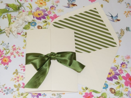 Invitación de boda - CLÁSICA 4323RAYAS