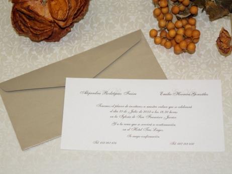 Invitación de boda - CLÁSICA 4109