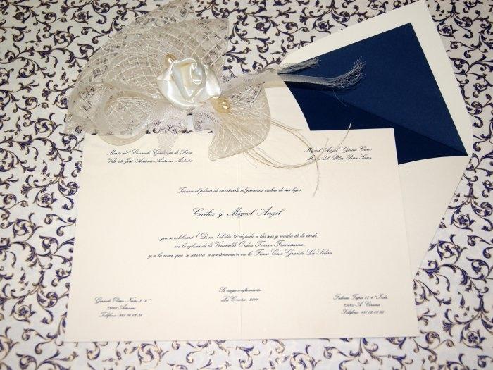 Invitación de boda - CLÁSICA 4311 Doble