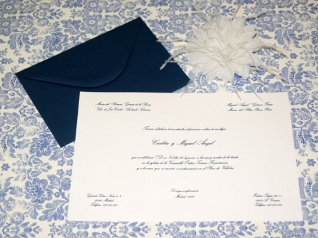 Invitación de boda - CLÁSICA 4314 Doble