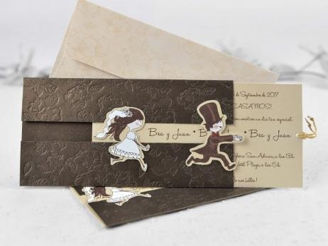 Invitación de boda - NOVIO CORRIENDO   (CARD 32802)