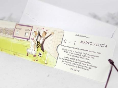 Invitación de boda - FÚTBOL  (CARD 32803)
