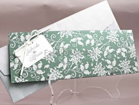 Invitación de boda - VERDE ORNAMENTOS   (CARD 32808)