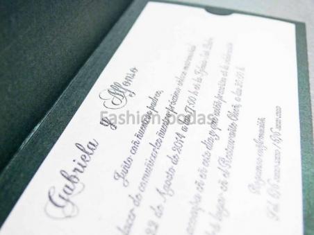 Invitación de boda barata verde ornamentos 32808