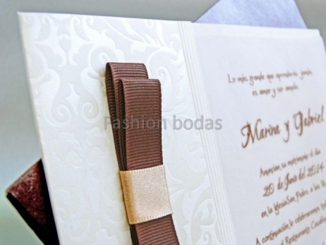 Invitación de boda - ELEGANTE MARRON    (CARD 32811)