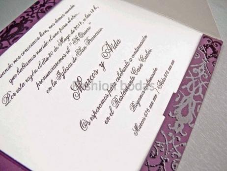 Invitación de boda - ELEGANTE MORADA    (CARD 32812)