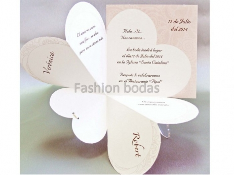 Invitación de boda - CORAZON    (CARD 32826)