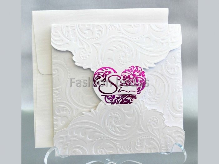 Invitación de boda - ROMANTICA CORAZON    (CARD 33310)