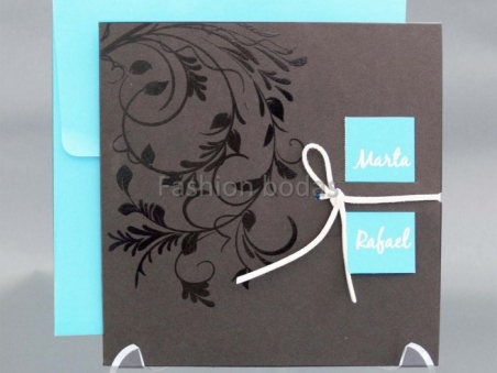 Invitación de boda barata elegante con ornamentos 33722