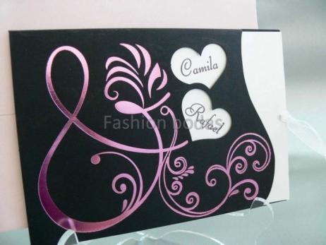 Invitación de boda - NEGRA ELEGANTE    (CARD 33730)
